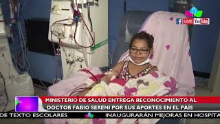 Ministerio de Salud entrega reconocimiento al doctor Fabio Sereni por sus aportes en el país