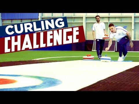 CURLING CHALLENGE!   Ederson v Bernardo   Man City Winter Olympics