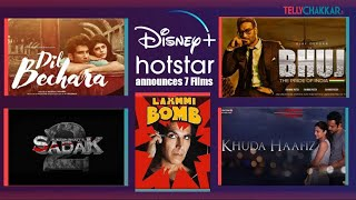 Disney+ Hotstar to release Sushant's last movie Dil Bechara, and 6 other movies on OTT | Checkout - TELLYCHAKKAR