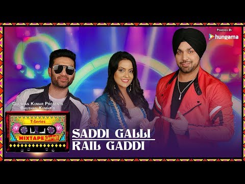 Saddi Galli / Rail Gaddi  Lyrics - Mixtape Punjabi | Deep Money | Preet Harpal | Amruta Fadnavis