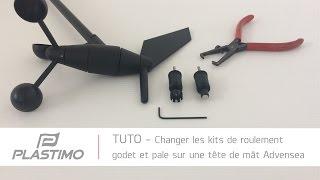 Plastimo | TUTO - Changer le kit de roulement pour godet & pale sur une tête de mât Advensea
