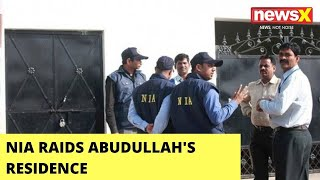 NIA Raids Abudullah's Residence   Raids In Connection With FB Post   NewsX - NEWSXLIVE