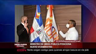 Ministro de Obras Publica posiciona nuevo viceministro