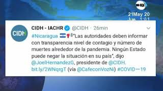 CIDH inisiste en que el gobierno de Nicaragua debe sincerar información sobre el Covid-19