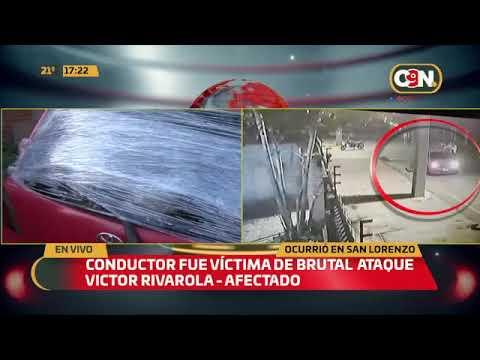 Conductor fue víctima de brutal ataque en San Lorenzo
