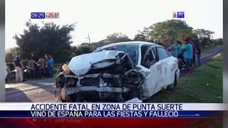 Vino de España para la Navidad y falleció en un accidente