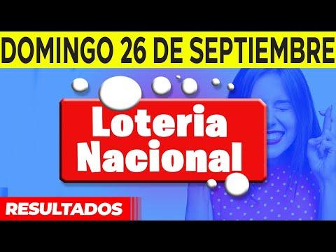 Sorteo Lotería Nacional del Domingo 26 de septiembre del 2021