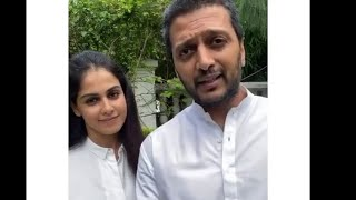 Genelia DSouza and Ritesh Deshmukh's nobel cause   Share a beautiful message with fans   - TELLYCHAKKAR