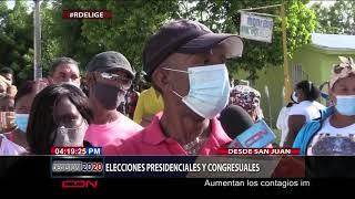 Ciudadanos  expresan que  elecciones presidenciales se desarrolla con fluidez en SJM