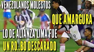 Prensa Venezolana llama R0BO el empate de Alianza Lima ante Estudiantes de Merida