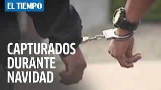 Cuatro capturados por diferentes delitos durante Navidad