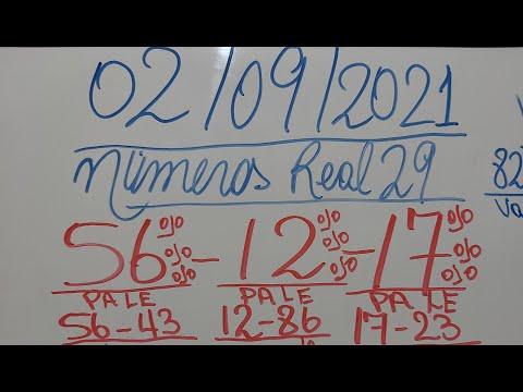 NUMEROS PARA HOY 02/09/2021 DE SEPTIEMBRE PARA TODAS LAS LOTERIAS