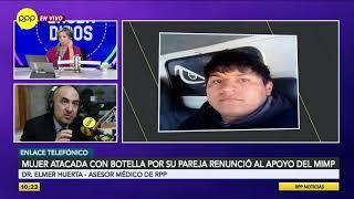 Huancayo: Mujer atacada con botella por su pareja renunció al apoyo del MIMP.
