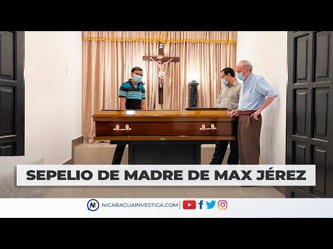 #EnVivo    Dan el último adiós a Heidi Meza, madre del líder estudiantil, Max Jerez.