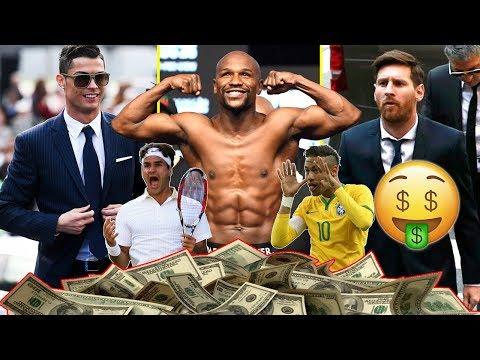 أكثر 10 رياضيين جنيا للأموال عام 2018  !!