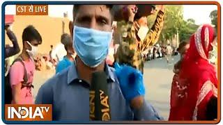 Mumbai में ट्रेन के इंतजार में हजारों मजदूर, CST से देखें राजीव सिंह की ग्राउंड रिपोर्ट - INDIATV