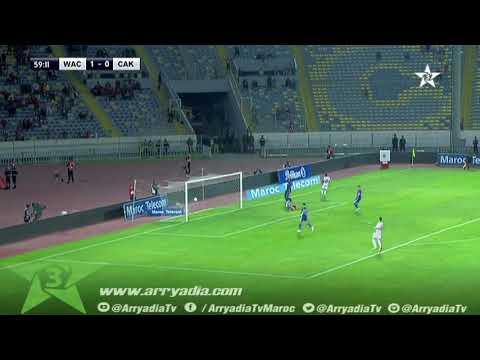 الوداد البيضاوي 2-0 شباب خنيفرة هدف أمين تيغزوي