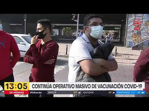 Grandes filas para vacunarse en Parque O'Higgins: Llaman a acudir a otros locales de inoculación