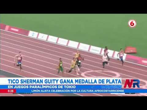 Tico Sherman Guity consigue medalla de plata en juegos paralímpicos de Tokio