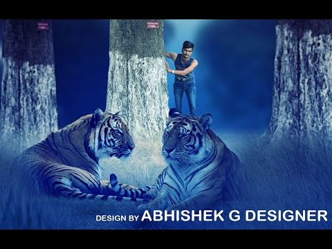 Behind the Tiger | Photo Manipulation | Photoshop Editing Tutorials