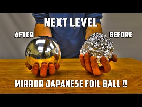 connectYoutube - Casting Mirror Polished Japanese Foil Ball from Molten Aluminium