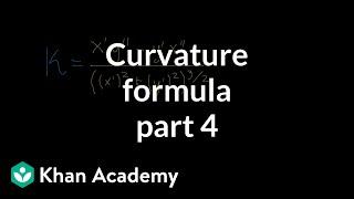 Curvature formula, part 4