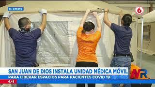 Hospital San Juan de Dios instala unidad médica móvil