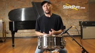 Craviotto 6 5x14 Solitaire Aluminum Snare Drum Pewter