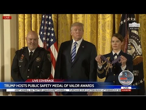 President Trump Hosts IMPORTANT Public Safety Valor Awards Ceremony