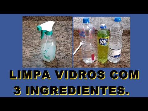 LIMPA VIDROS CASEIRO COM APENAS 3 INGREDIENTES