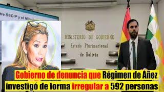 Ministro Denuncia - Añez Investigo a 592 personas de entre Menores Policías Periodistas y Fallecidos