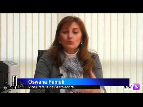 Vice Prefeita de Santo André Oswana Fameli - Maria Paiva Entrevista - JustTV - 03/09/13