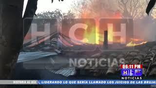Incendio consume vivienda en sector de La Gruta en Intibucá