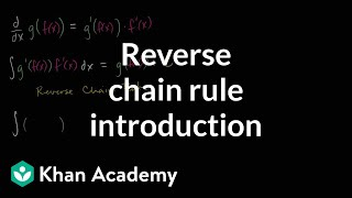 Reverse chain rule introduction