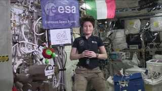 Space Station Crew Member Discusses Fitness in Space with Italian Students