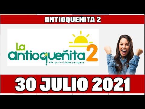 Resultados del Chance ANTIOQUEÑITA 2 del Viernes 30 de julio de 2021   Chance
