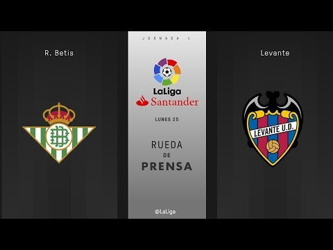 Rueda de prensa R. Betis vs Levante
