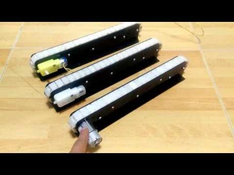 สายพานลำเลียงขนาดเล็ก สำหรับทำโครงงาน ชุดลำเลียงอัตโนมัติ ขนาดเล็ก mini Conveyor