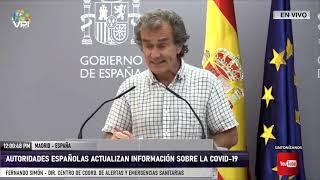 EN VIVO desde Madrid - Autoridades españolas actualizan información sobre la Covid-19