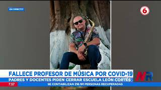 Fallece profesor de música de la Escuela León Cortés por Covid 19