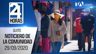 Noticias Ecuador: Noticiero 24 Horas 29/09/2020 (De la Comunidad Segunda Emisión)