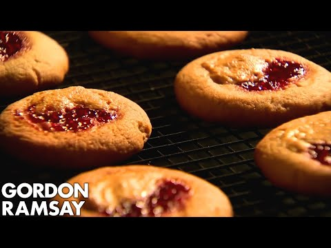 Peanut Butter and Jam Cookies with a Caesar Salad | Gordon Ramsay