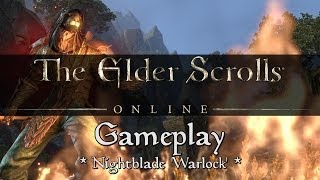 Elder Scrolls Online - Nightblade 'Warlock' Gameplay (Destruction Staff)