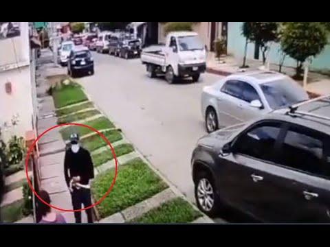 Cámaras de vigilancia captan robo en Zona 3 de Mixco