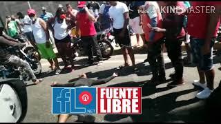 Imágenes muy fuertes de un accidente en estos momentos frente a UTESA Puerto Plata.