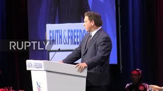 USA: Florida Governor targets Biden administration at conservative conference in Orlando