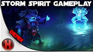 Na'Vi.Dendi 20 Kills owning Pubs Storm Spirit Gameplay Dota 2