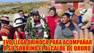 EVO MORALES LLEGA AL ORINOCA ORURO PARA ACOMPAÑAR A SU SOBRINO ADEMAR VILCARANI MORALES..