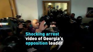 Georgia's opposition leader shocking arrest video