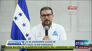 Honduras presenta 95 casos de Covid-19
